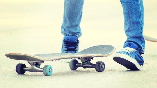Skater, Teens, Park, Urban, Street, Gang, Bands