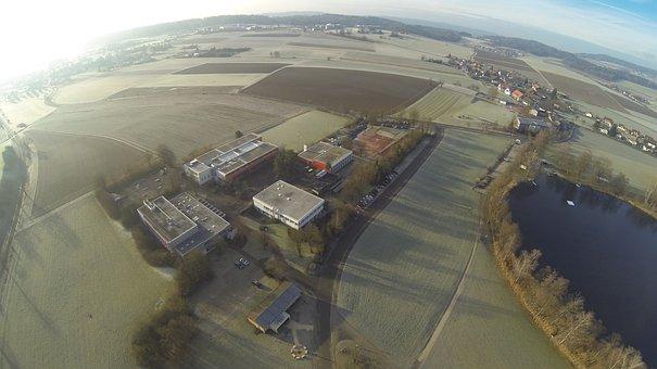 Gopro, Blade, Aerial View, Sunrise, Fish Eye, Fields