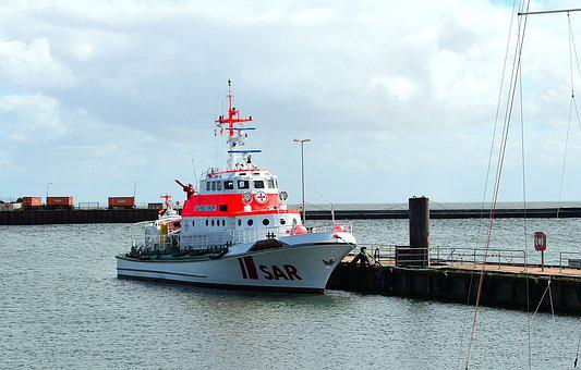 Rescue Ship, Lifeboat, Sea Rescue, Distress, Borkum