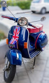 Vespa, Scooter, Motor, Motorcycle, Vehicle, Transport