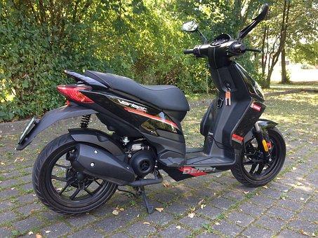 Scooter, Roller, Biker, Motorcycles, Moped