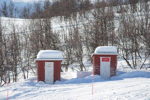 Mountain, Toilet, Mountain Toilet, Winter, Snow, Cold