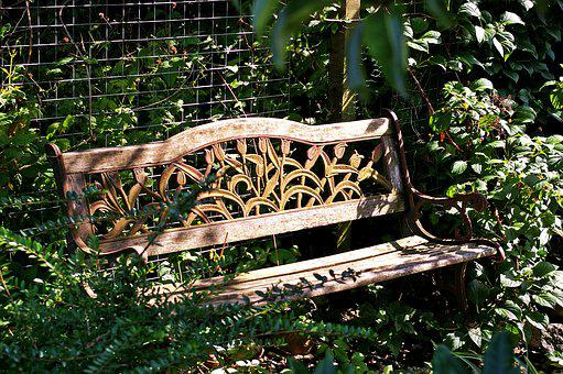 Garden Bench, Bank, Rest, Seat, Wood, Nature