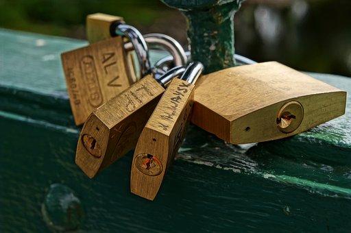 Padlock, Love, Bridge, Romance, Couple, Happiness, Key