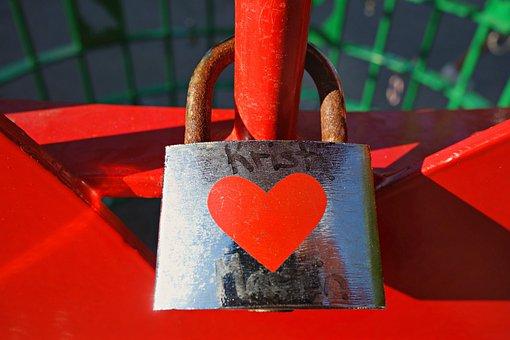 Lock, Padlock, Love-padlock, Love, Heart, Liaison