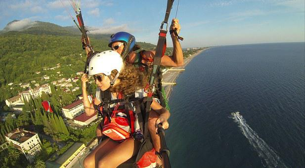 Paraglider, Beach, Boat, Insurance, Sea, Gopro