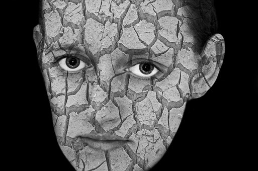 Cracked, Cracks, Face, People, Woman, Female, Portrait