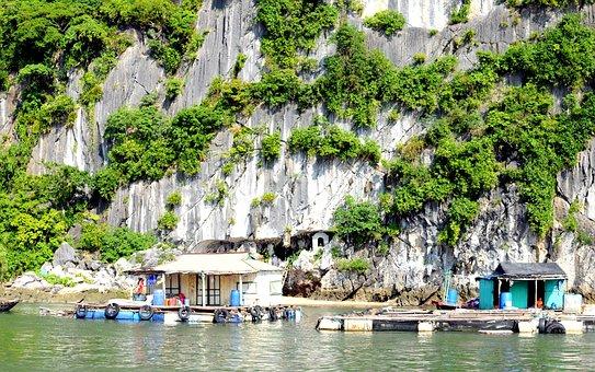 Houseboat, Vietnam, Poverty, Fishing, Pontoon