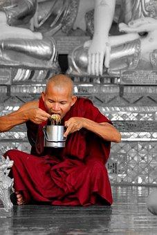 Myanmar, Burma, Monk, Asia, Temple, Portrait, Buddhist