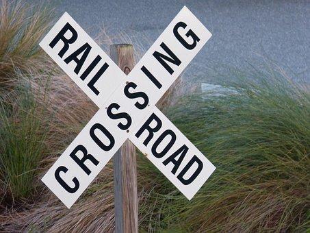 Railroad Crossing, Sign, Railway Crossing
