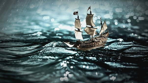 Sailing Vessel, Sea, Ship, Wave, Swell, Maritime