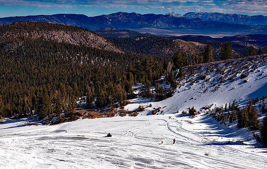 Mammoth Lakes, California, Winter, Snow, Ski Slope