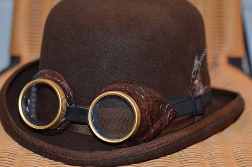 Steampunk, Hat, Explore, Fantasy, Punk, Retro, Goggle