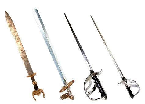 Sword, Battle, Steel Arms, Blade, Handle, Steel, Sharp