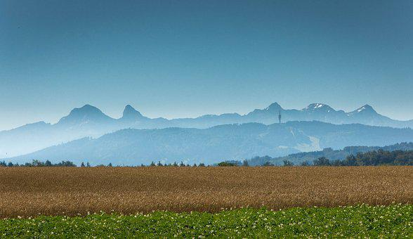 Mannens Plain, Switzerland, Mountains, Landscape