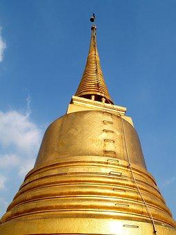 Bangkok, Wat, Saket, Golden, Mount, Mountain, Thailand