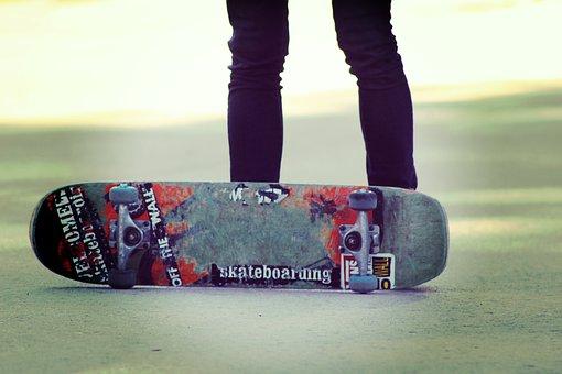 Skater, Park, Urban, Street, Gang, Bands, Slippers
