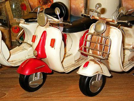 Motor Scooter, Roller, Vehicle, Motorcycle, Vespa