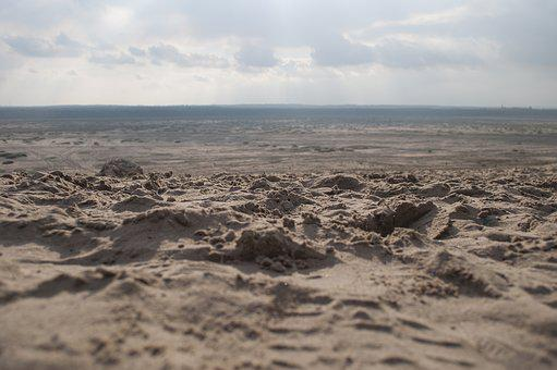 Landscape, Desert, Sand, View, The Background, Dry