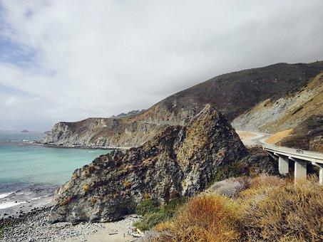 California, Routeno1, Nature, Ocean, Sea, View, Water