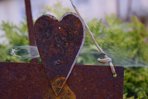 Heart, Love, Old Love, Stainless, Old, Weathered, Iron