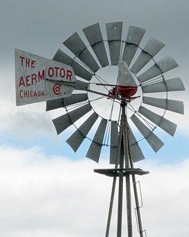 Windmill, Iowa, Wind, Agriculture, Energy, Farm, Pump