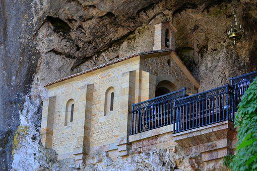 Chapel, Covadonga, Religion, Sanctuary, Architecture