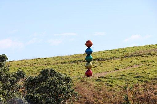 Balls, Color, Landscape, Art, Ball, Sculpture, Fantasy