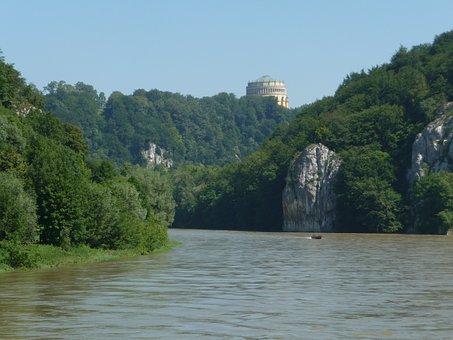 Kelheim, Danube, Befreiungshalle, Landscape, Germany