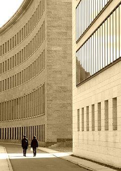 Architecture, Human, Building, Facade, Modern, Away
