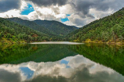 Lake, Mountains, Nature, Landscape, Water, Sky, Clouds
