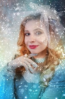 Snowflakes, Snow, The Snow Queen, Cold, Winter