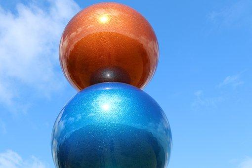 Balls, Sphere, Sky, Colorful, Round, Decoration, Art