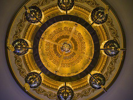Chandelier, Lamp, Light, Night, Home, Decor, Circle
