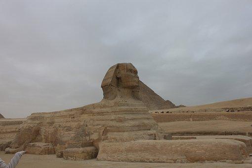 Sphinx, Egypt, Cairo, Desert, Reporter, Monument