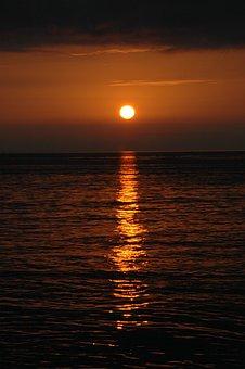 Sunset, Sunrise, Twilight, Ocean, Nature, Sea