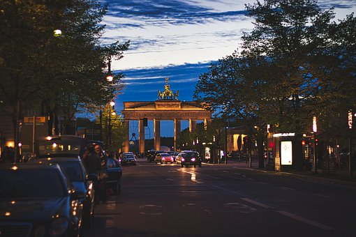 Berlin, Night, Architecture, Building, Germany, Capital