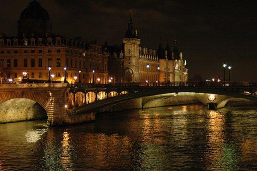Paris, Monument, Concierge, Seine, River, France, City