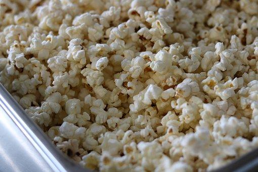 Snack, Popcorn, White, Tasty, Delicious
