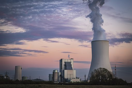 Power Plant, Industry, Factory, Chimney