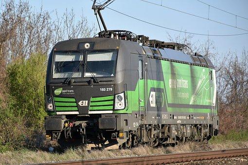 Electric Locomotive, Railway, Transport, Transportation