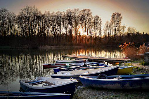 Boat, Rowing Boat, Water, Lake, Rest, Landscape, Bank