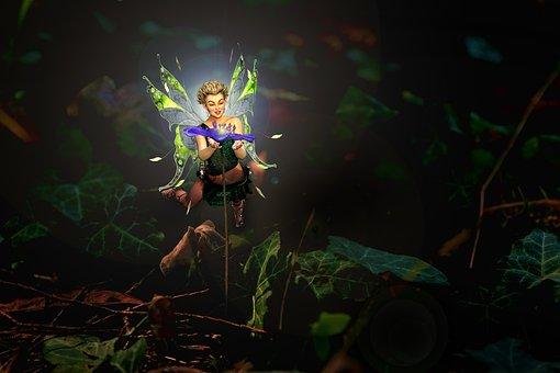 Elf, Spring, Nature, Hepatica, Magic, Fairy Tales