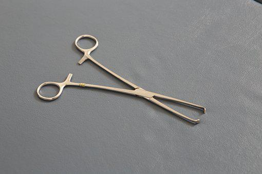 Surgery, Instruments, Clamp, Steel