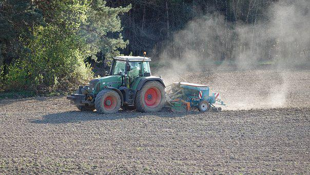 Tractor, Seeds, Farmer, Cereals, Agricultural, Rural