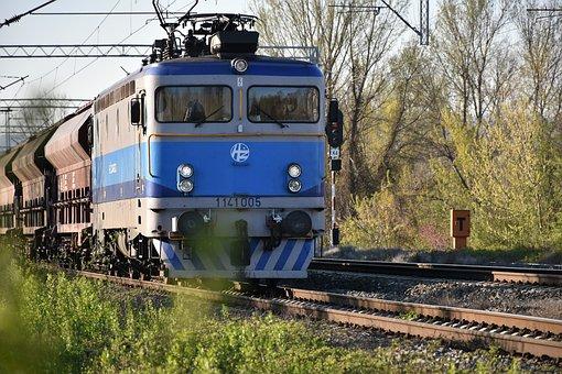 Cargo Train, Electric Locomotive, Transportation