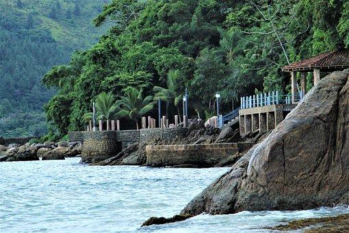 Mar, Island, Construction, Home, Water, Beach, Ocean
