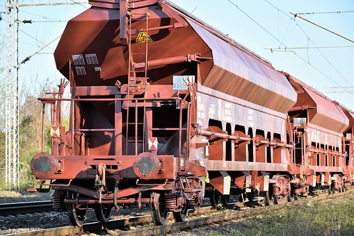 Cargo Train, Last Wagon, Transportation, Transit