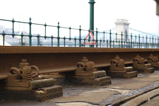 Rails, Train, Tram, Budapest, Chain Bridge, Hungary