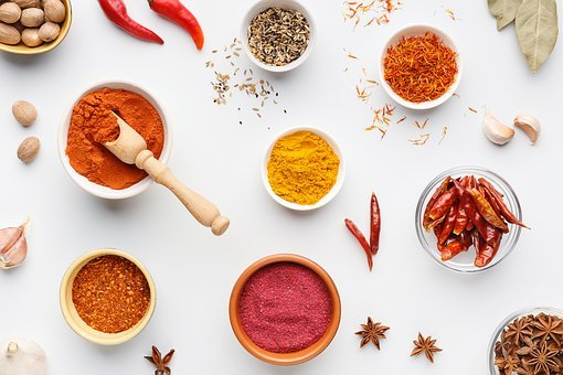 Masala, Ingredients, Spices, Turmeric, Chilli, Shows